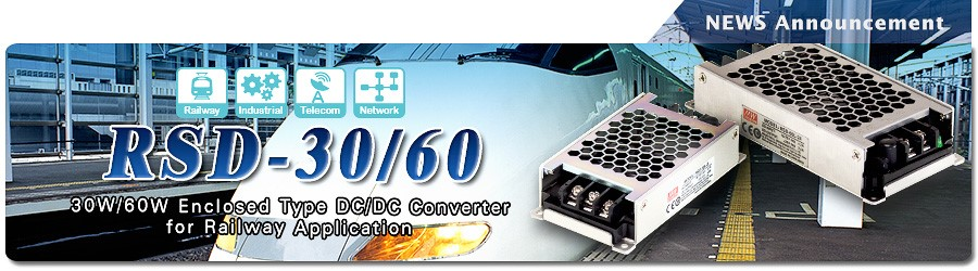 RSD-30/60 Series~ DC-DC Enclosed Type Converter for Railway Application